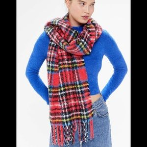 Urban Outfitters oversize Fuzzy Plaid Scarf